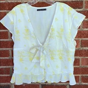 Abercrombie & Fitch Bow Blouse Size XL